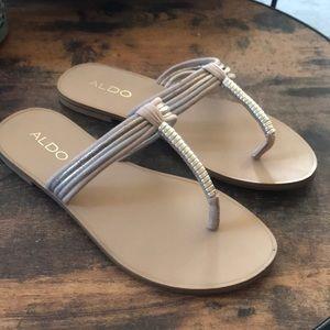 Nice pair of Aldo slippers size 6.